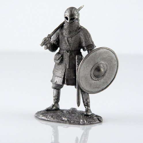 Tin toy soldiers. Viking 10 century metal sculpture. Collection 54mm (scale 1/32) (Tin Toy Miniatures)
