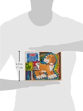 Animaux De Ferme Melissa /& Doug 13781-5 Panneaux En Bois Et 5 Lacets Assortis