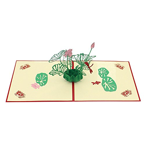 Holzkary Pop Up Card, 3D Card, Greeting Card, Mother's Day Card, Birthday Card, Valentine Card, Flower Card(F.) (Best Birthday Card App)