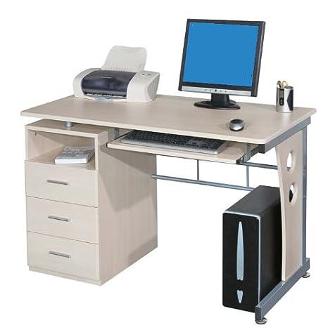 Porta Pc Scrivania.Sixbros Office Scrivania Porta Pc Tavolo Ufficio Colore Acero S 352 112