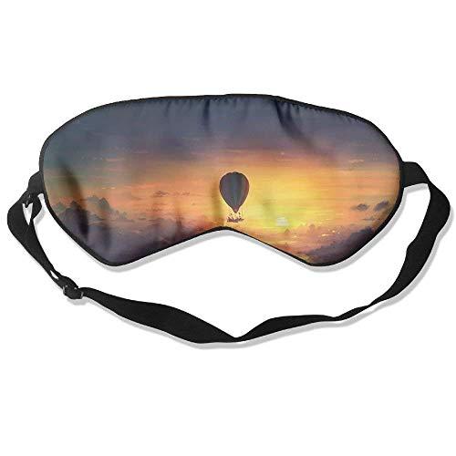 AFJ234F666 Sleep Eye Mask Hot Air Balloon Sunset Lightweight Soft Blindfold Adjustable Head Strap Eyeshade Travel Eyepatch E1 Comfortable Sleep Eyes Masks