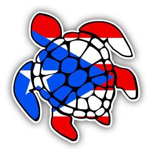 o Rico Flag Turtle Decal - 3.7