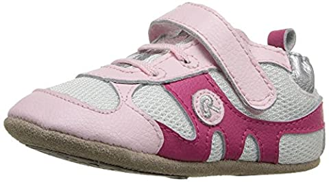 Robeez Girls' Sporty Steph-K Sneaker, Kickin' Kali Pink, 18-24 Months M US Infant