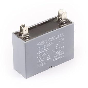 CBB611A AC 450V 4uF 5% Tolerancia del motor del ventilador Running ...