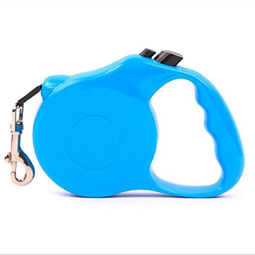 Gozier Automatic Retractable Dog Leash Pet Traction Rope Walking Training Lead Leash(10, Sky -