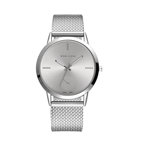 Price comparison product image Watches for Women Men Clearance,  Paymenow Fashion Luxury Stainless Steel PU Leather Band Quartz Watch Classic Wrist Watch (D)