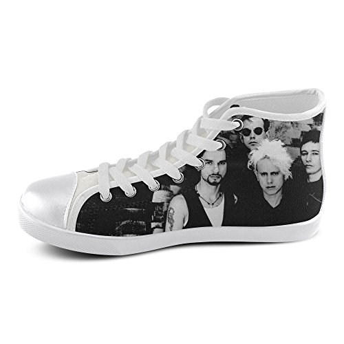 Show-shoes Custom Depeche Mode High Top Lace-up Flats Canvas Shoes Soft Comfortable Sneakers for Adult Women (Model016) 10US XXXL
