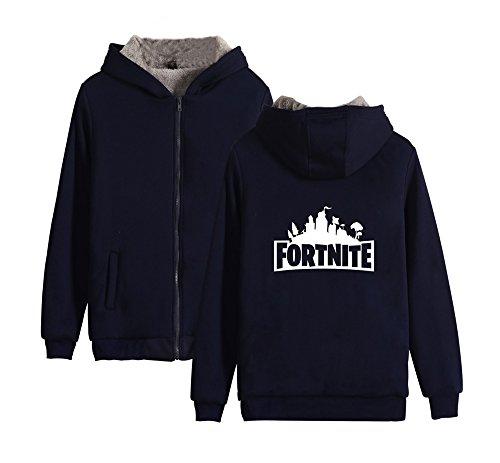 Sweatshirt Per Felpe E Uomo Giacche Maniche Blue Pullover Cappuccio Invernale Con Hoodie Lunghe Calda Fortnite Dark Cerniera Pile Unisex Fashion Donne Ailient 6fxqUEwaq