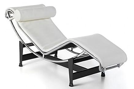 Group Design Poltrona Chaise Longue LC Pelle bianca H12-P-bianca ...