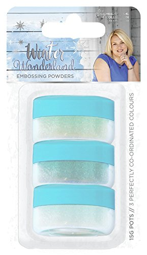 Sara Siganture S-WW-EMBP Sara Signature Winter Wonderland (3pk) Embossing Powder, Mixed