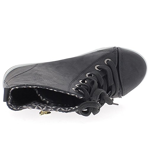 Levantamiento negro zapatillas clavos y cremallera de oro