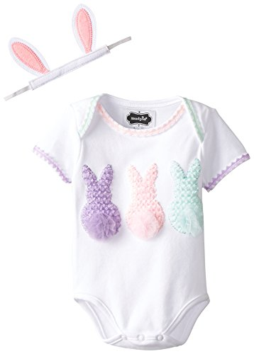 Mud Pie Pastel Bunnies Baby Girl Easter Outfit