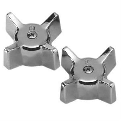 Kissler Chrome Pair Tub Handles for Gerber 799-0151