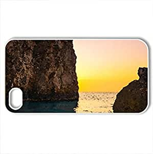 glorious sky over rock monuments - For Samsung Galaxy S5 Mini Case Cover (Rivers Series, Watercolor style, White)