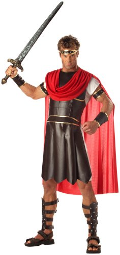 California Costumes Men's Adult-Hercules, Brown/Red, M (40-42) Costume (Halloween Costumes Gladiator)