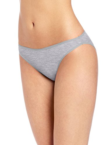 Felina Women's Sublime High Cut Brief, Grey Heather, (Lace High Leg Brief)