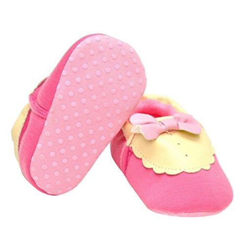 Saingace® Krabbelschuhe,0 ~ 18 Monate Baby Kinder warm halten Prewalker Kleinkind Bowknot weiche Sohle Schuhe
