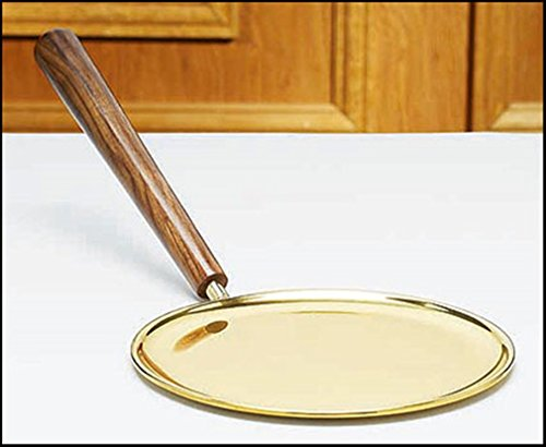 Stratford Chapel Polished Brass Communion Plate with Wood Handle, 7 Inch by Stratford Chapel
