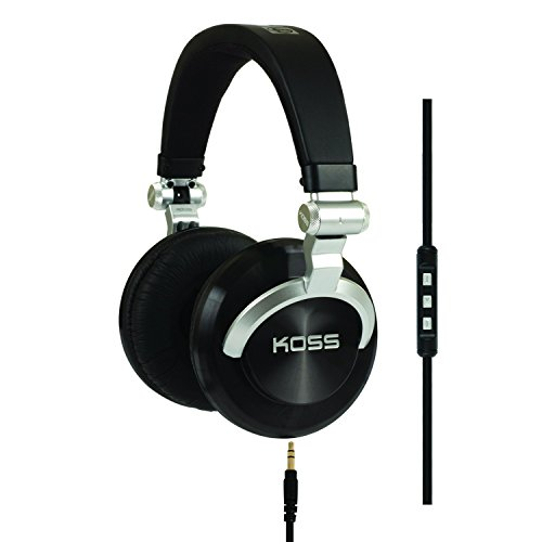 Mono Headphone Replaceable Coiled Cord - Koss ProDj200 Studio Headphone - Black/Silver