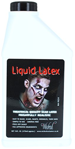 Liquid Latex - Wicked GIANT16oz (500ml) Halloween Make Up Accessory