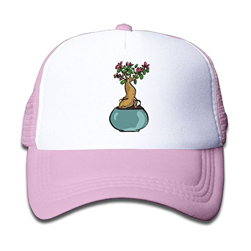 Price comparison product image Aiw Wfdnn Mesh Baseball Caps Girl's Bansai Plant Flower Cute Adjustable