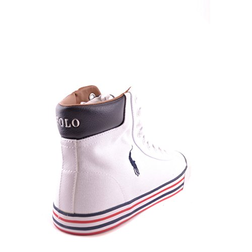 men Sole Ralph top Lauren Blu Sneakers Sneakers Harvey White Bianco for Canvas Stripe Mid Men Polo OwqCXO
