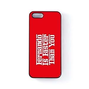 Fernando Carcasa Protectora Snap-On en Plastico Negro para Apple® iPhone 5 / 5s de Chargrilled + Se incluye un protector de pantalla transparente GRATIS