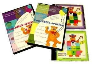 ASL American Sign Language Con-SIGN-tration Memory Game CD #1,2,3 & 4 Bundle for Windows Only