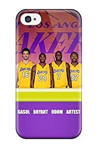Excellent Design Los Angeles Lakers Nba Basketball (2) Phone Case For Iphone 4/4s Premium Tpu Case