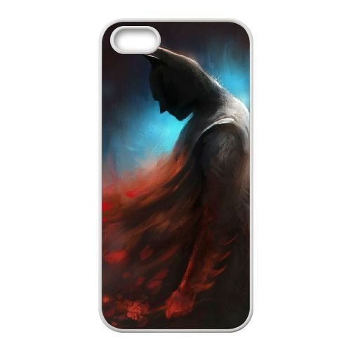 Batman coque iPhone 5 5S Housse Blanc téléphone portable couverture de cas coque EBDOBCKCO10122