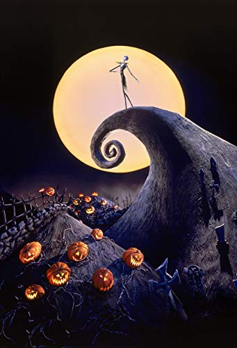 ERIC 5x7ft Nightmare Before Christmas Theme Photo Photography Backdrop Halloween Backdrop Digital Printed Vinyl Backdrops & Room Mural LF036 -