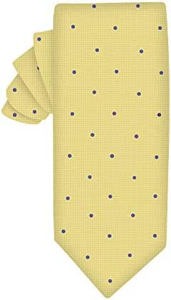 Gold Blue Polka Dot Skinny Tie | 5 Yr Warranty | Gifts for Men