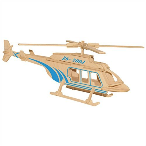 3D Jigsaw Puzzles DIY Wooden Wp122 Helicopter Model for sale  Delivered anywhere in USA