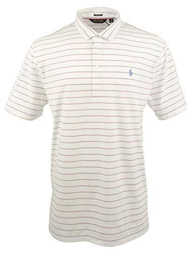 Polo Golf Ralph Lauren Men's Golf Polo Shirts Stretch Lisle Pony Logo (X-Large, White/Blue,Orange,Grey - Golf Lauren Shoes Ralph