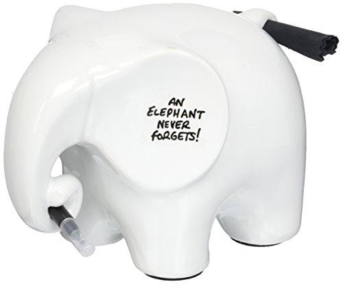 Dry Wipe Memo Ceramic Elephant - Dry Erase Message & Memo Whiteboard - Ceramic Memo Pad - Dry Wipe Pen & Cloth Included