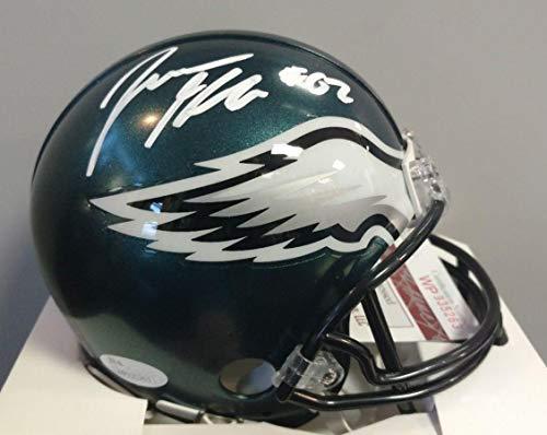 Jason Kelce Philadelphia Eagles Signed Autograph Mini Helmet Helmet JSA Witnessed Certified ()