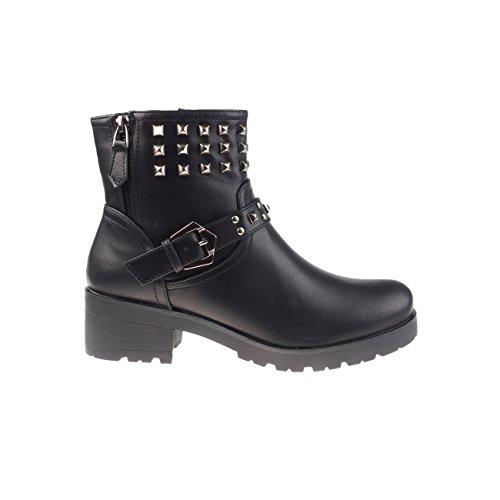 5005 schwarz Fashion4young 1 Pour Bottes Femme Zvv64xPq