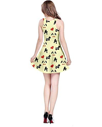 CowCow - Vestido - para mujer amarillo claro