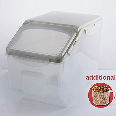 Contenedor de alimentos,Baffect caja de almacenamiento para alimentación animal, envase de comida seca recipiente de almacenamiento hermético, pequeño 4-6kg ...