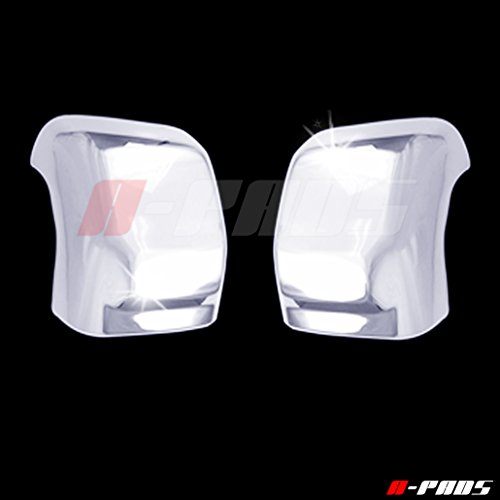 A-PADS Chrome Top Towing Mirror Covers for Nissan TITAN 2016 2017 - WITH Signal Fit, Chromed Half Mirrors PAIR ()