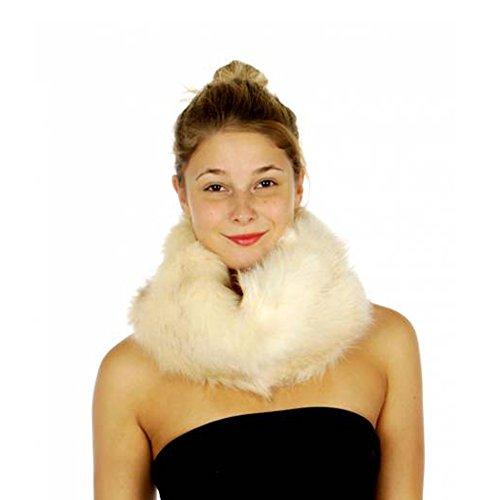 Crown Women's Faux Fur Neck Warmer Infinity Loop Wrap Scarf (IV)