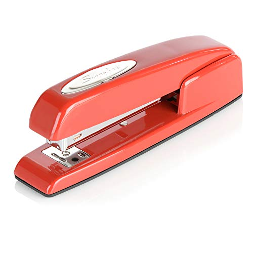 Swingline Stapler, 747 Iconic Desktop Stapler, 25 Sheet Capacity, Rio Red (74736)