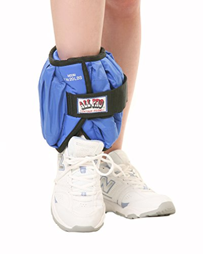 DSS All Pro Adjustable Therapeutic Ankle & Wrist Weights (Ankle, 20 lb. = 20, 1-lb. wts.) by DSS