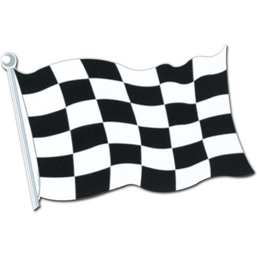 Cardboard Race Car Costume (Checkered Flag Cutout Party Accessory (1 count))