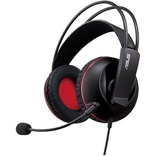 ASUS Cerberus Gaming Headset with large 60mm neodymium drivers, designed for both PC gaming and mobile use, Compatible with PC, Mac, PlayStation 4 and smart devices for gaming and mobile fun