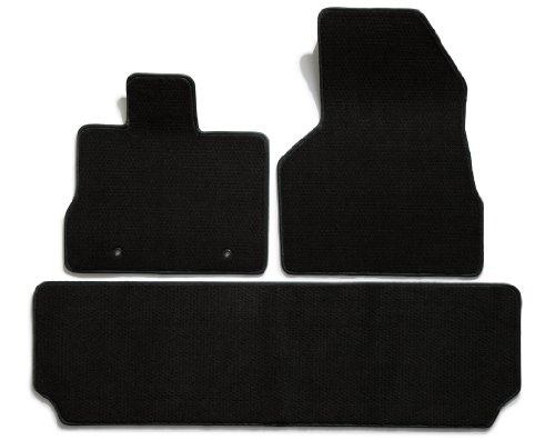 Premier Custom Fit 3-piece Set with 2 Front and 1 Rear Carpet Floor Mats for Ford F-150 (Premium Nylon, Black) (1 Rear Black Floor Piece)