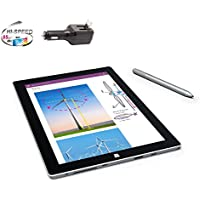 Microsoft Surface 3 Bundle - 4 Items: 64GB Wi-Fi Only Quard-Core 10.8-Inch Tablet, Original Pen, Silicon Power 32GB Elite microSDHC Card and 2-in-1 Travel Charger