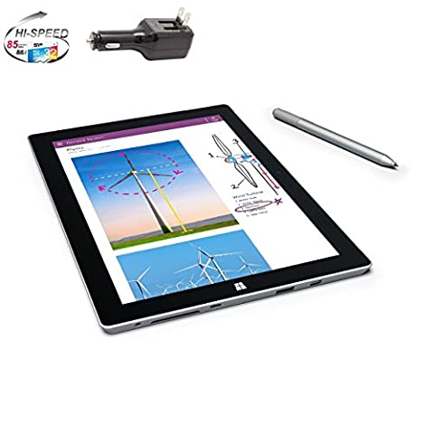Microsoft Surface 3 Bundle - 4 Items: 64GB Wi-Fi Only Quard-Core 10.8-Inch Tablet, Original Pen, Silicon Power 32GB Elite microSDHC Card and 2-in-1 Travel (Microsoft Surface Pro 2 32)