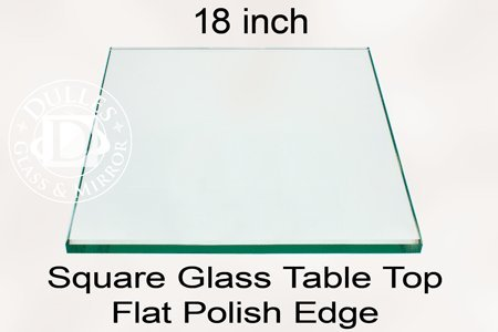 TroySys Square Glass Table Top, 1/4