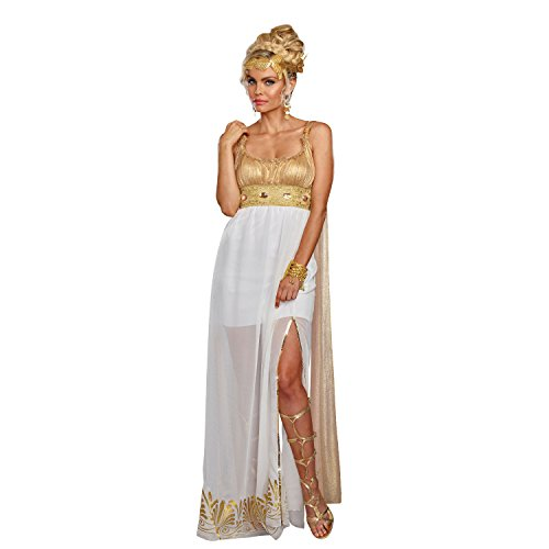 Dreamgirl Women's Athena, White/Gold, M -